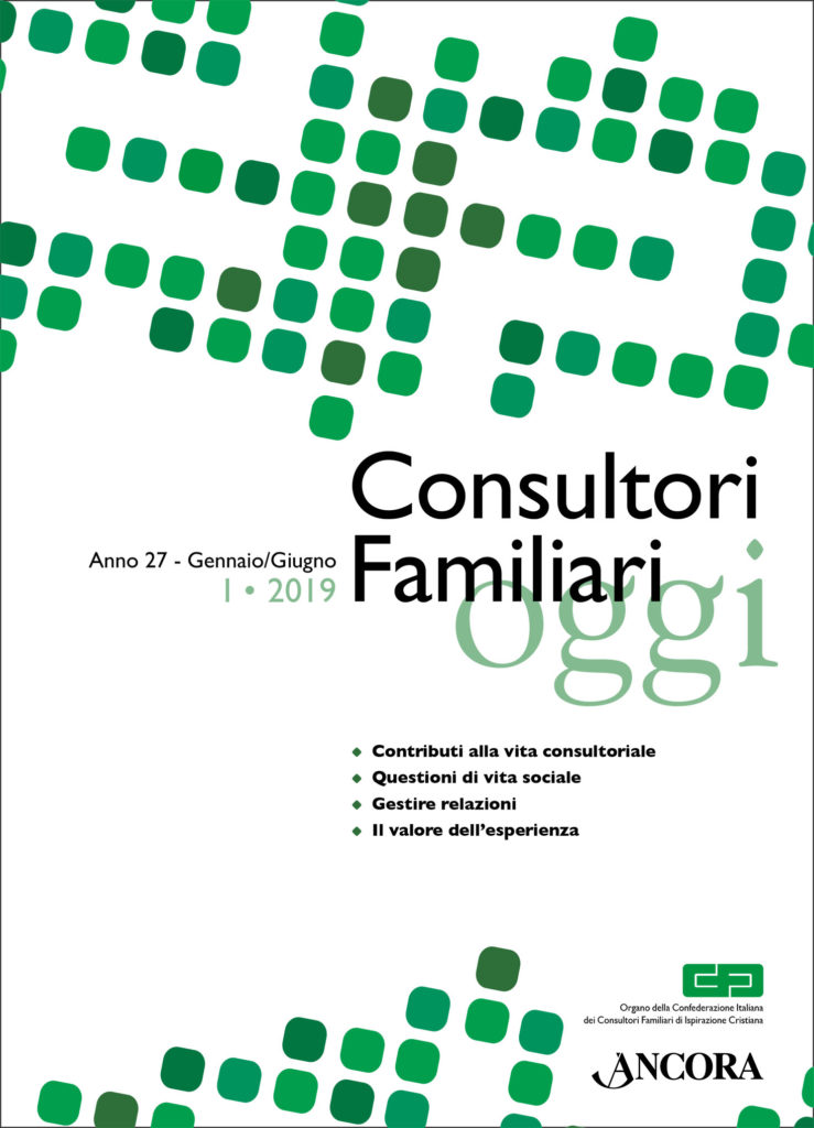 copertina rivista consultori familiari oggi
